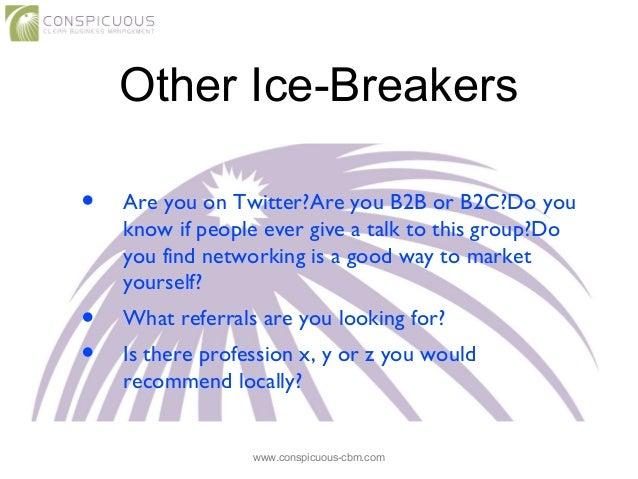 best networking icebreakers