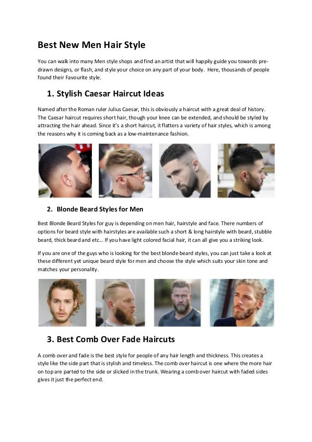 Best New Men Hair Style
