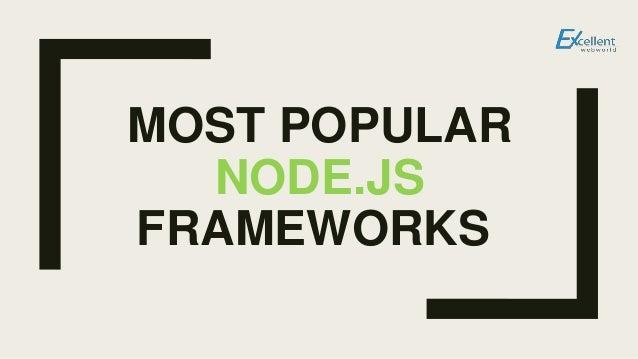 MOST POPULAR NODE.JS FRAMEWORKS