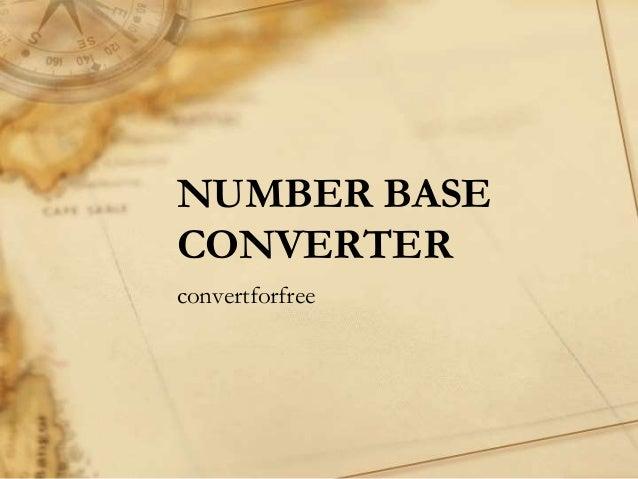 Best Number Base Converter | Binary, Octal, Decimal