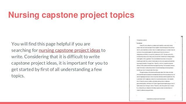 nicu capstone project ideas