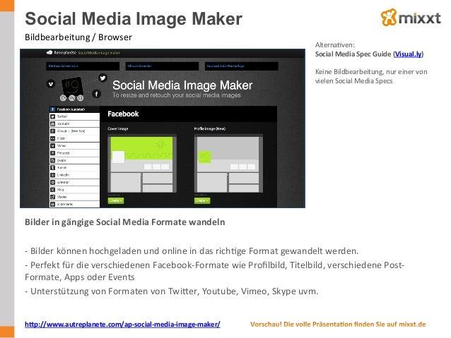 Social Media Image Maker Bildbearbeitung  /  Browser   AlternaUven:   Social  Media  Spec  Guide  (Visual....