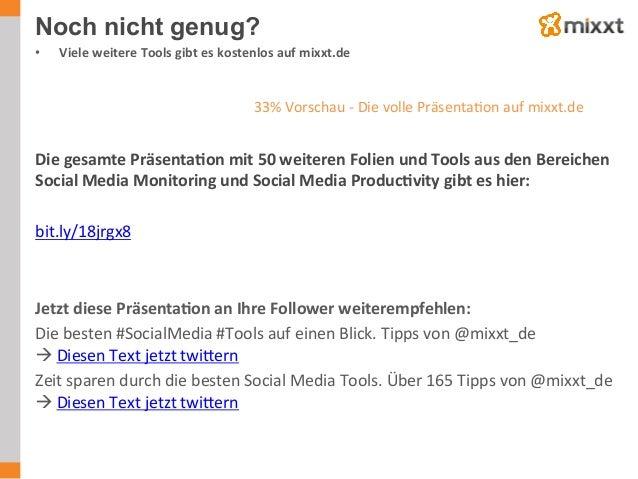 Noch nicht genug? • Viele  weitere  Tools  gibt  es  kostenlos  auf  mixxt.de         Die  gesamte...