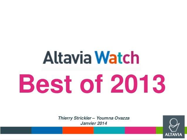 Best of 2013 Thierry Strickler – Youmna Ovazza Janvier 2014