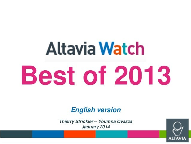 Best of 2013 English version Thierry Strickler – Youmna Ovazza January 2014