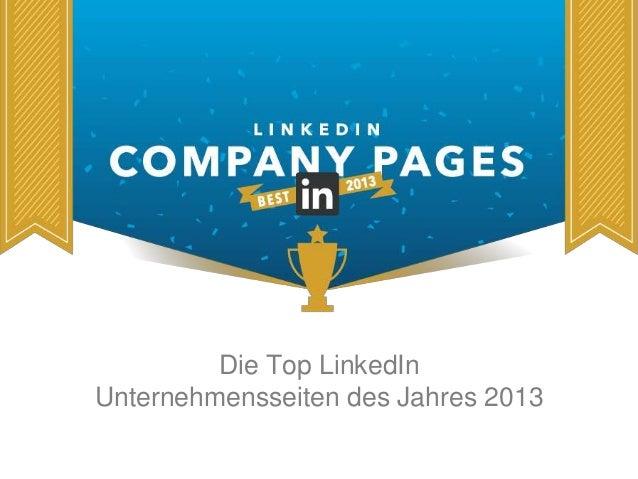 Die Top LinkedIn  Unternehmensseiten des Jahres 2013