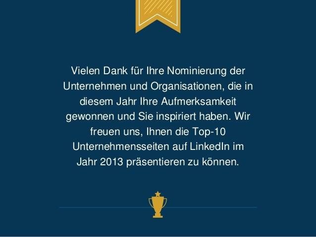 Vielen Dank für Ihre Nominierung der  Unternehmen und Organisationen, die in  diesem Jahr Ihre Aufmerksamkeit  gewonnen un...
