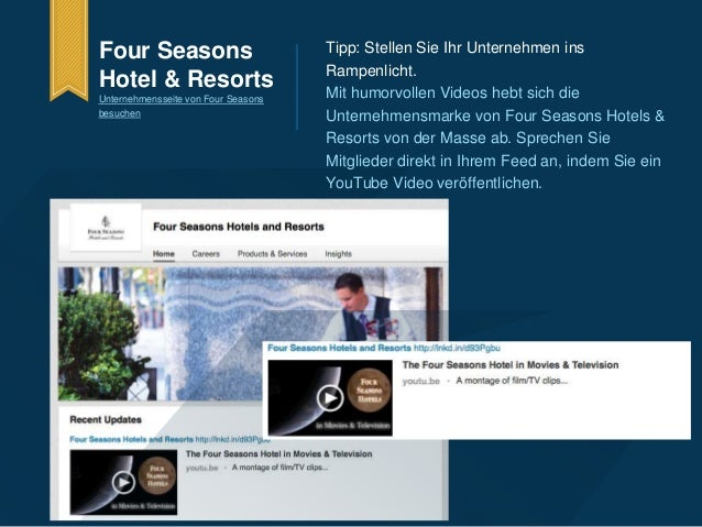 Four Seasons  Hotel & Resorts  Unternehmensseite von Four Seasons  besuchen  Tipp: Stellen Sie Ihr Unternehmen ins  Rampen...