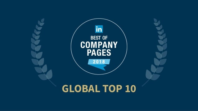 GLOBAL TOP 10 2 0 1 8 BEST OF COMPANY PAGES