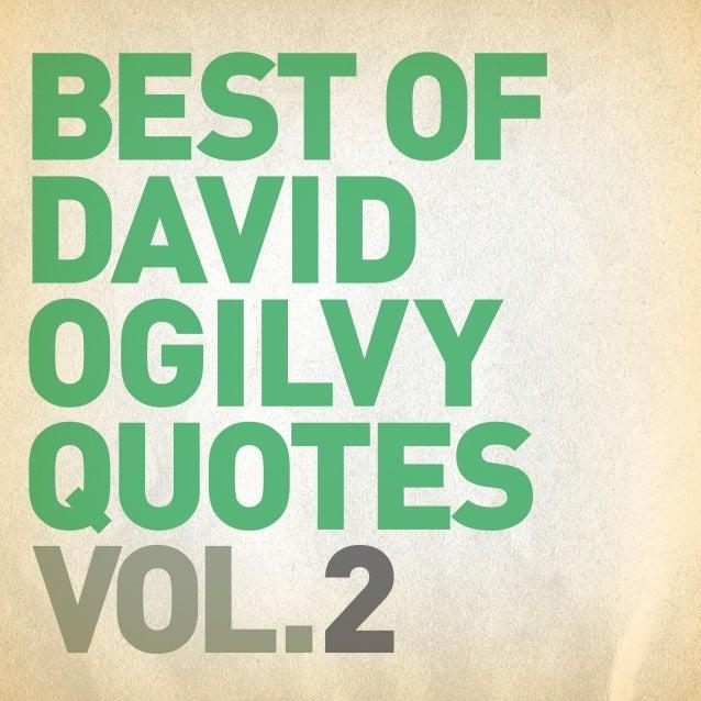 Best of David Ogilvy Quotes Vol. 2