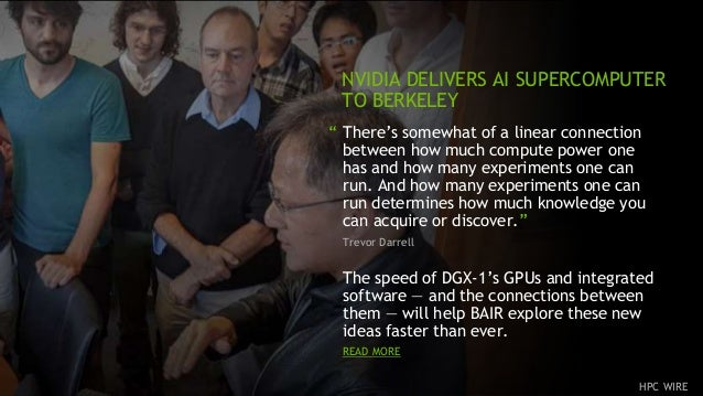 """10 """" There's somewhat of a linear connection between how much compute power one has and how many experiments one can run. ..."""