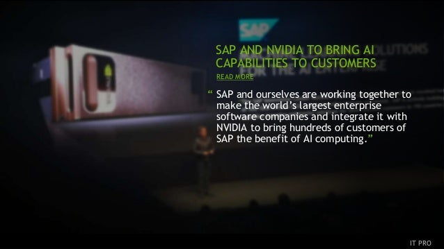 """15 """" SAP and ourselves are working together to make the world's largest enterprise software companies and integrate it wit..."""