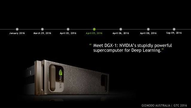 """3 """" Meet DGX-1: NVIDIA's stupidly powerful supercomputer for Deep Learning."""" March 29, 2016 April 03, 2016 April 05, 2016 ..."""