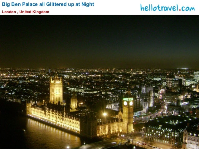 Big Ben Palace all Glittered up at Night London , United Kingdom