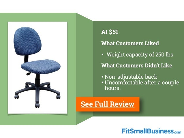 ... 20. At $51 What Customers ...  sc 1 st  SlideShare & Best Office Chairs