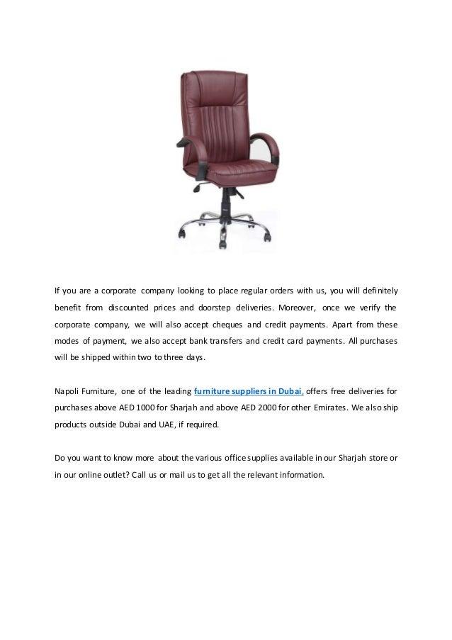 Best Office Furniture Suppliers In Dubai