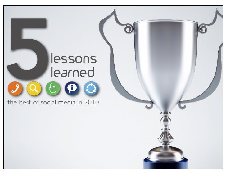 5              lessons               learnedthe best of social media in 2010