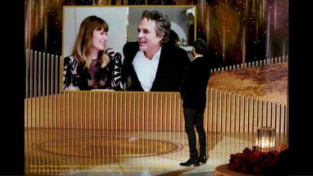 """Trent Reznor, winner of Best Original Score - Motion Picture award for """"Soul,"""" speaks via video. Christopher Polk/NBC Hand..."""
