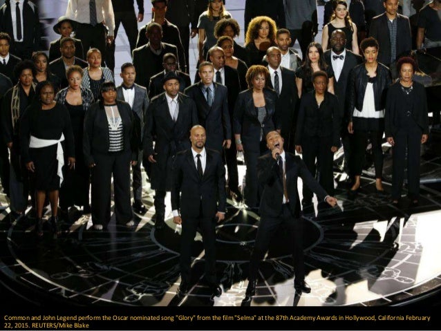 """Common and John Legend perform the Oscar nominated song """"Glory"""" from the film """"Selma"""" at the 87th Academy Awards in Hollyw..."""