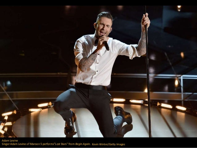 "Adam Levine Singer Adam Levine of Maroon 5 performs""Lost Stars"" from Begin Again. Kevin Winter/Getty Images"