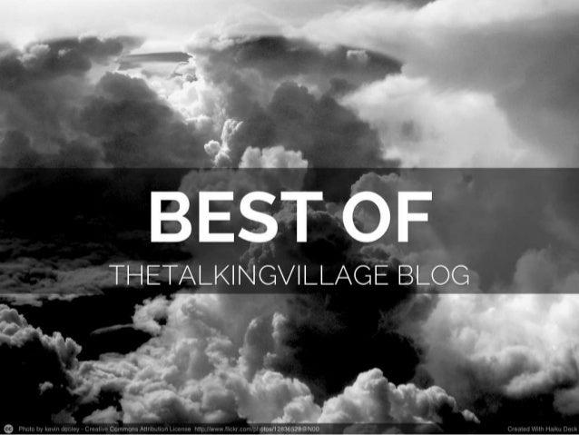Best of The Talking Village Blog