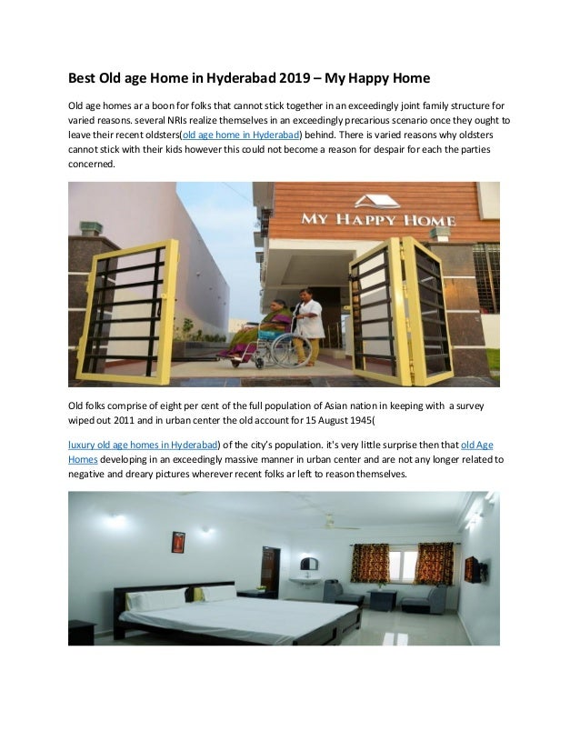 Best old age home in hyderabad 2019 jan 8