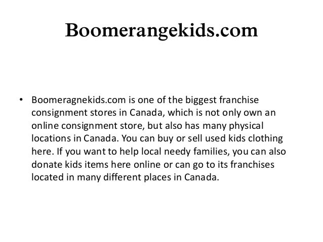 Best Online Kids Consignment Stores In Canada