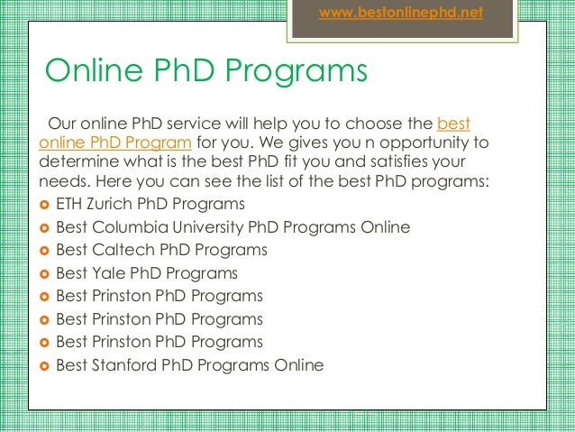 Online courses for phd