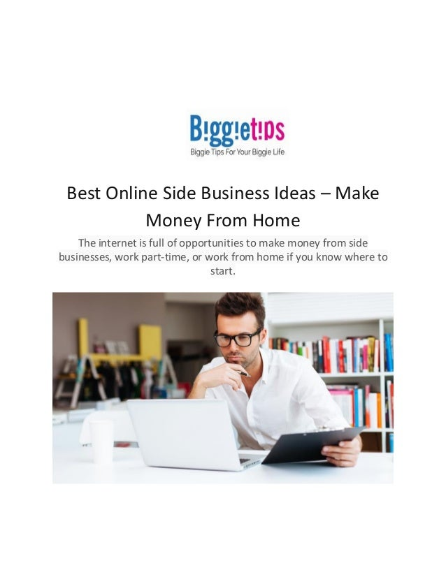 best online side business ideas make money from home