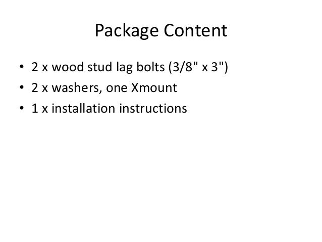 trx xmount installation manual