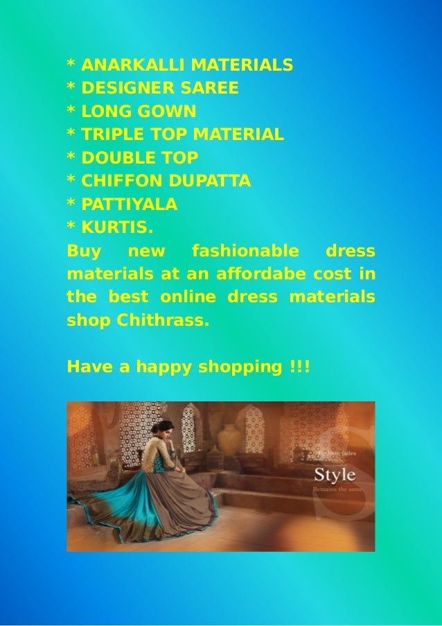 Best online wholesale dress materials shop chithraas