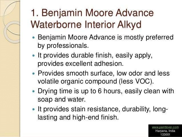 ... 2. 1. Benjamin Moore Advance Waterborne Interior Alkyd ...
