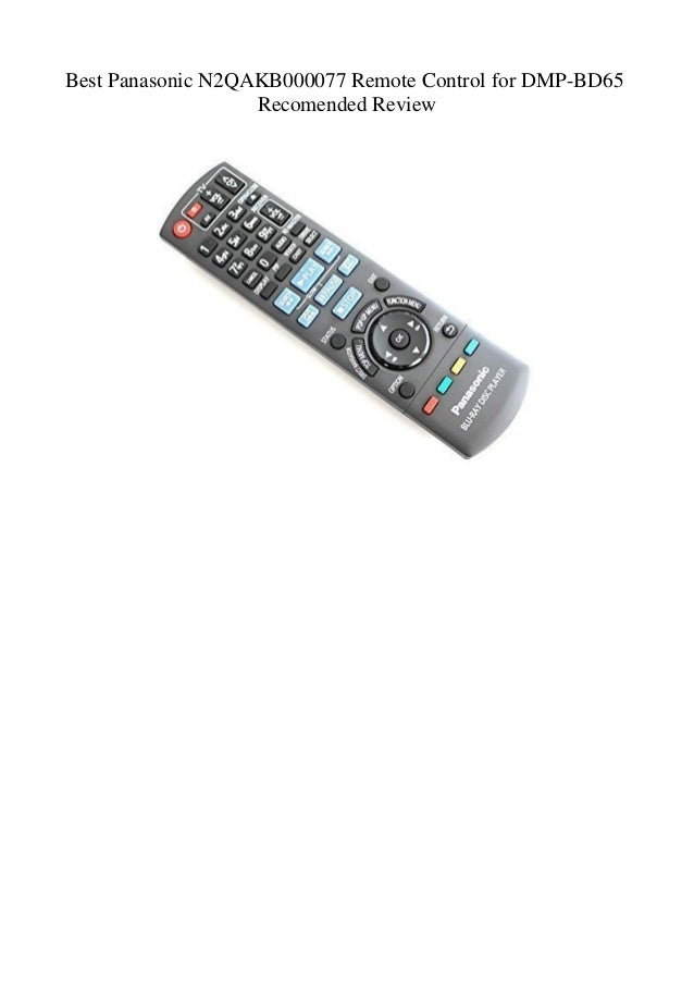 Best Panasonic N2QAKB000077 Remote Control for DMP-BD65 Recomended Re…