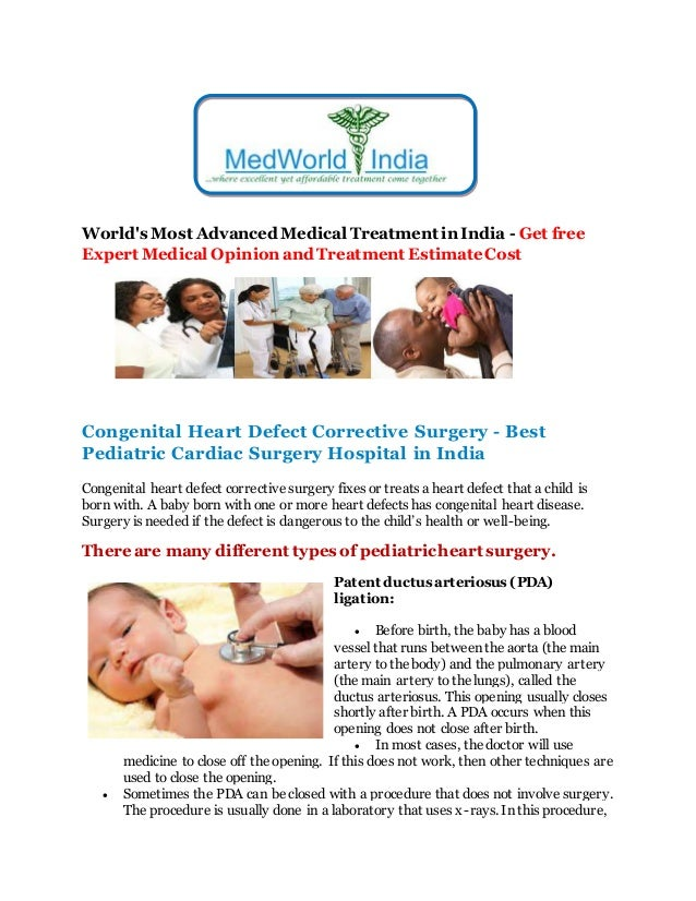 World's Most Advanced Medical Treatment in India - Get free Expert Medical Opinion and Treatment EstimateCost Congenital H...