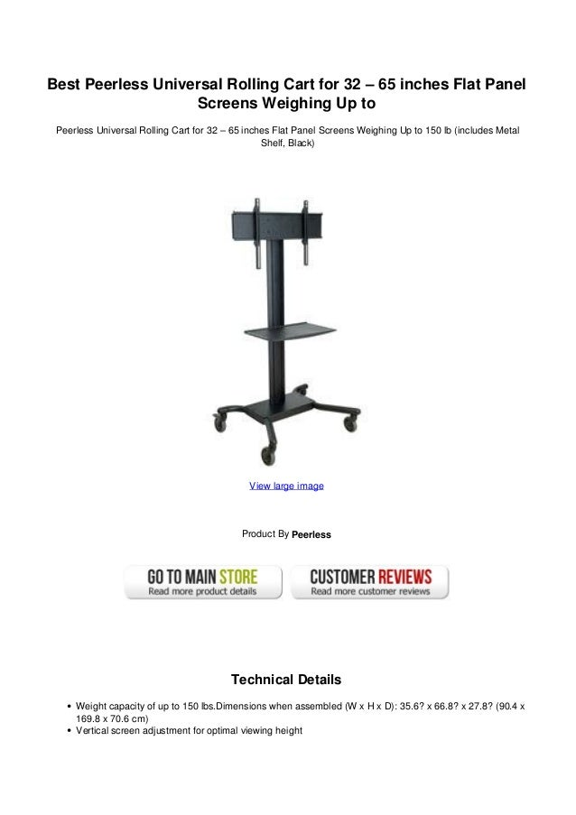 32 Best Staying Power Images On Pinterest: Best Peerless Universal Rolling Cart For 32 65 Inches Flat