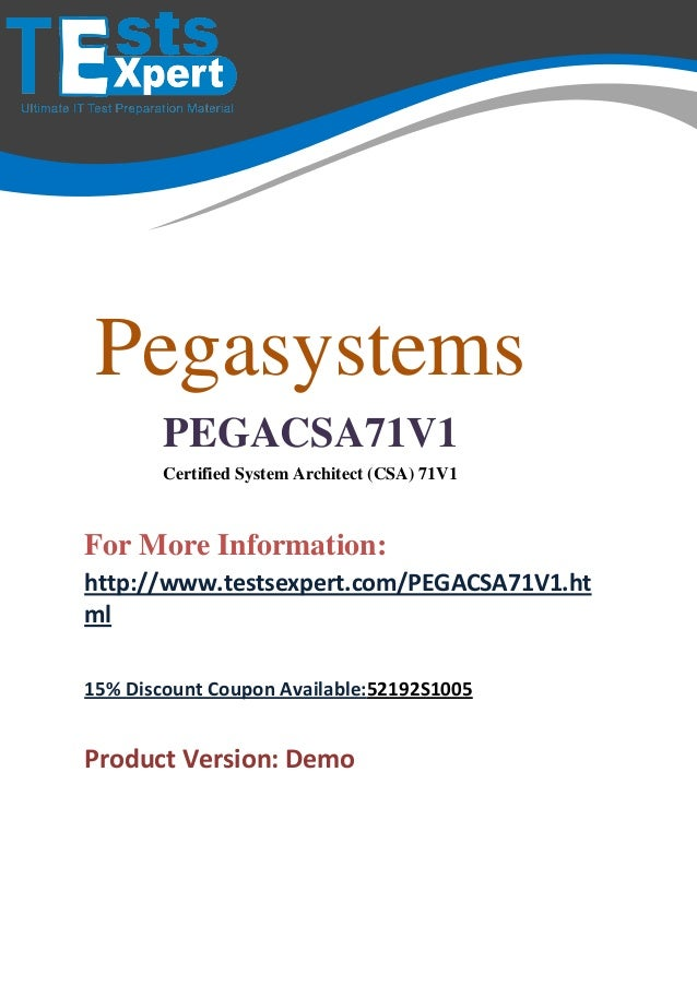 Best pegacsa71v1 Exam Practice Dumps Download