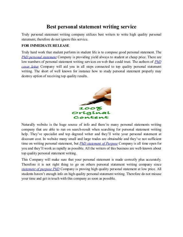 Personal statement writing service uk