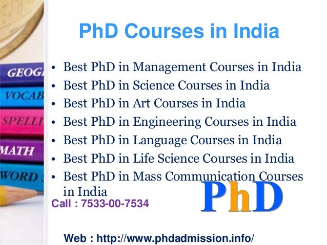 Phd degree in management in india