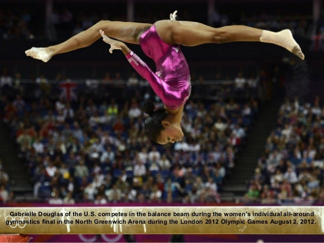 Gabrielle Douglas of the U.S. competes in the balance beam during the womens individual all-aroundgymnastics final in the ...