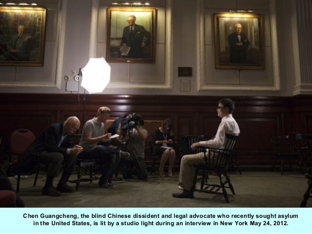 Chen Guangcheng, the blind Chinese dissident and legal advocate who recently sought asylum   in the United States, is lit ...