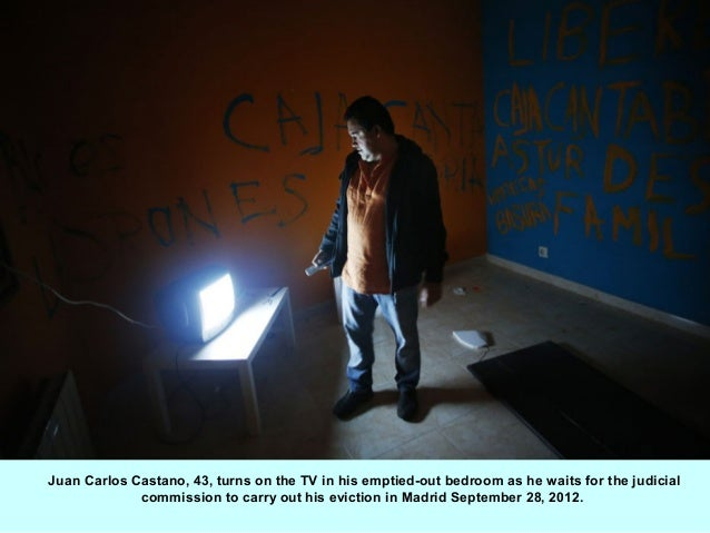 Juan Carlos Castano, 43, turns on the TV in his emptied-out bedroom as he waits for the judicial             commission to...