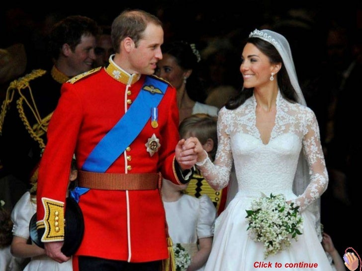 Britain's Prince William (L) and Catherine, Duchess of Cambridge, look at one another after their wedding ceremony in West...