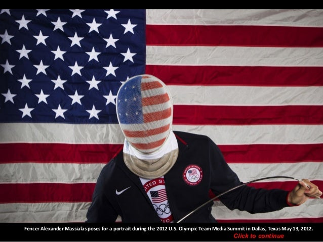 Fencer Alexander Massialas poses for a portrait during the 2012 U.S. Olympic Team Media Summit in Dallas, Texas May 13, 20...