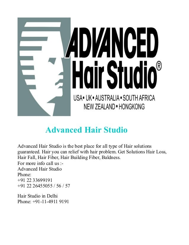 Advanced Hair Studio Advanced Hair Studio is the best place for all type of Hair solutions guaranteed. Hair you can relief...