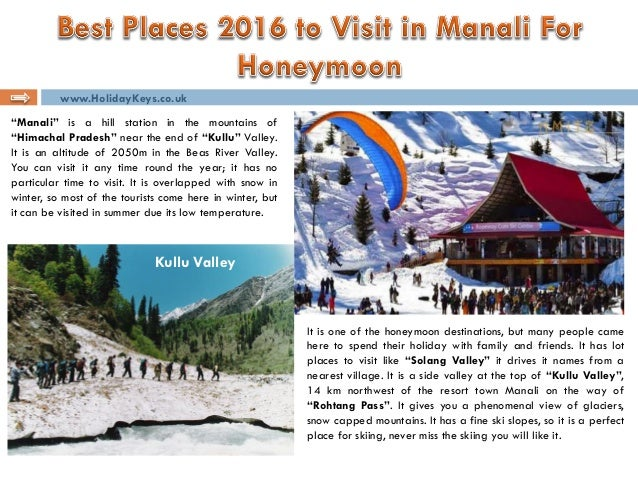 Best places 2016 to visit in manali for honeymoon for Best places to go on your honeymoon