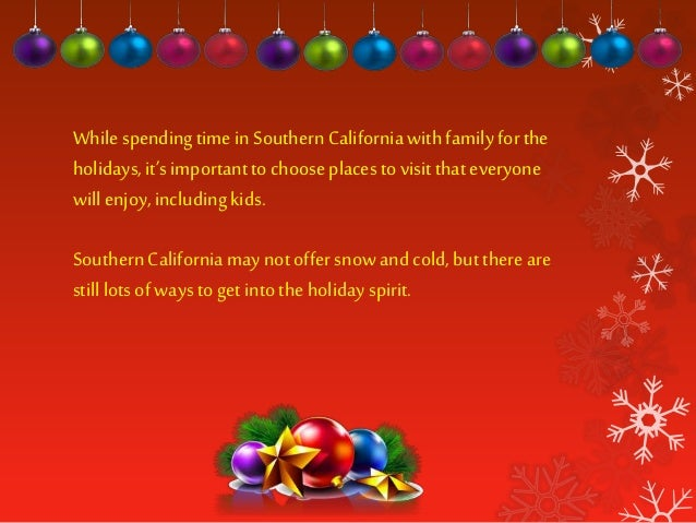 Best Places to Visit in Southern California This Christmas Slide 2