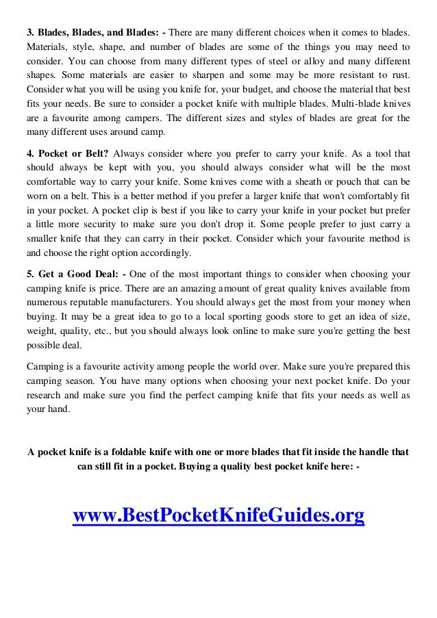 Why You Need the Best Pocket Knife? Slide 2