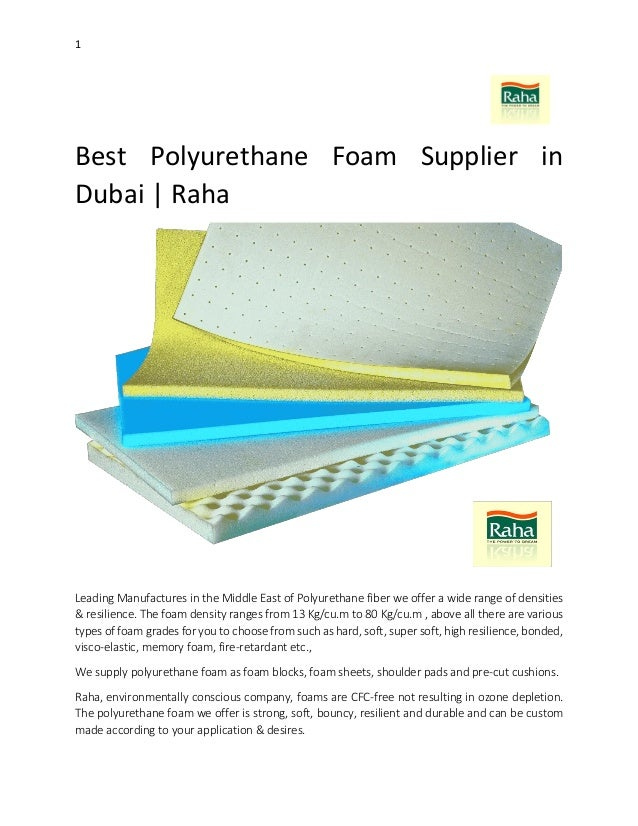 Best Polyurethane Foam Supplier in Dubai | Raha