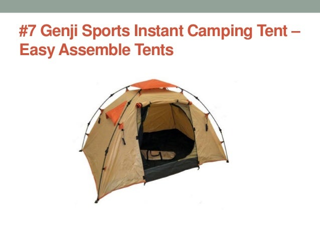 #7 Genji Sports Instant C&ing Tent u2013 Easy Assemble Tents ...  sc 1 st  SlideShare & Best pop up tents in 2017 for camping