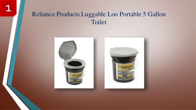 Reliance Products Luggable Loo Portable 5 Gallon Toilet 1 ...